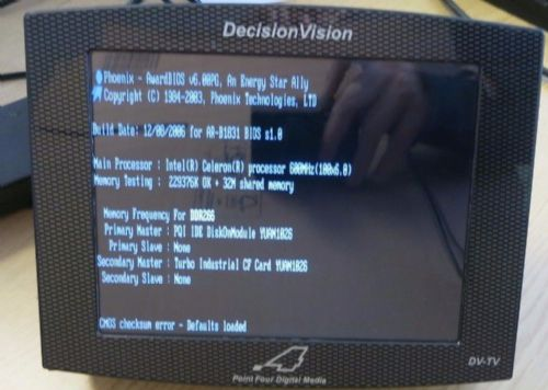 Decision Vision Point Four Digital Media Advertising Monitor Model: DV-TV